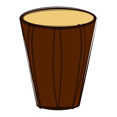 Sketch of a bass drum. Musical instrument. Vector illustration design