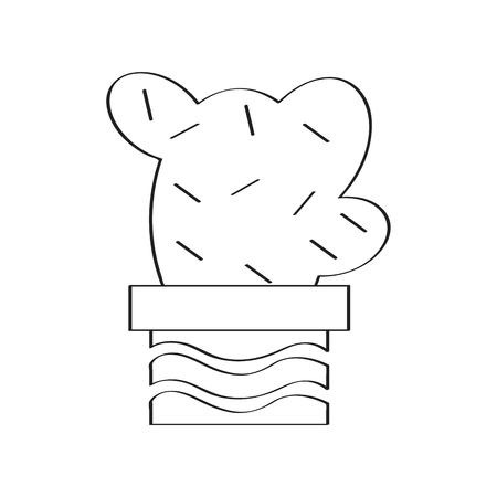 Isolated cartoon cactus sketch. Vector illustration design  イラスト・ベクター素材