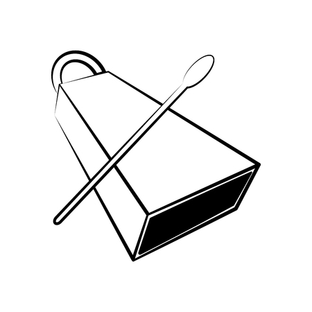 Isolated cowbell outline. Musical instrument. Vector illustration design