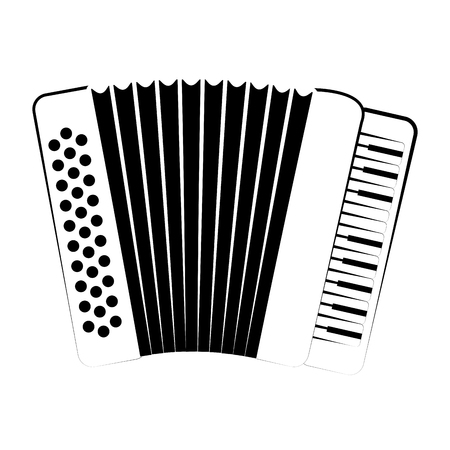 Isolated accordion outline. Musical instrument  イラスト・ベクター素材