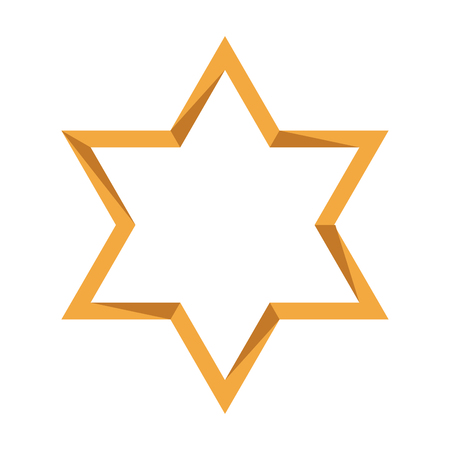 Isolated golden jewish star