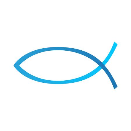 Christian fish symbol Иллюстрация