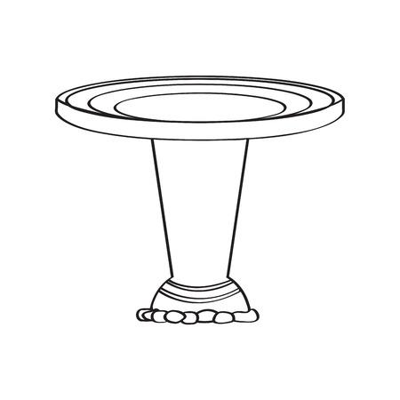Traditional baptismal font