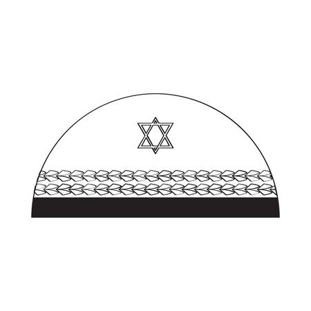 Jewish kippa outline