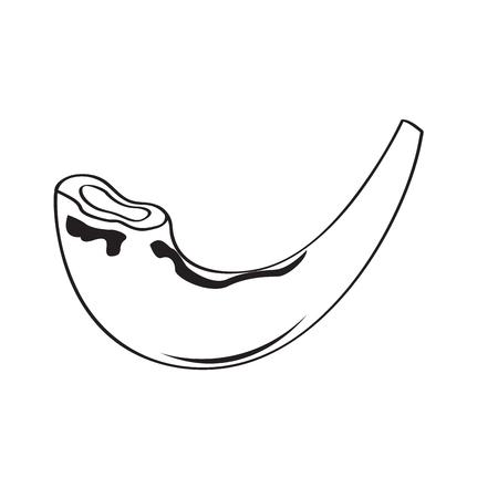 Jewish shofar outline
