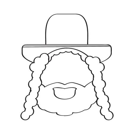 Isolated rabbi icon