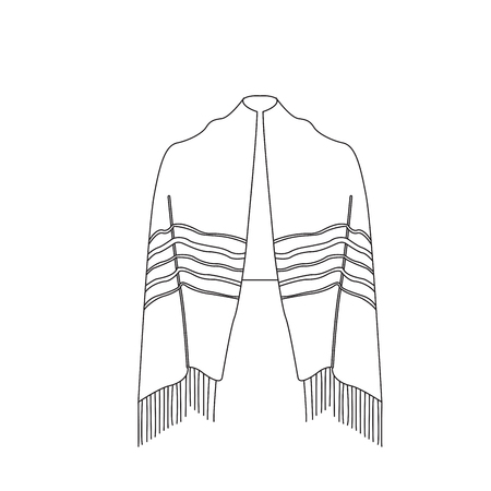 Jewish tallit icon