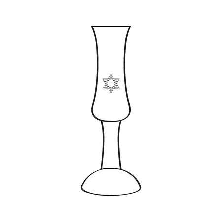 Traditional jewish wine cup icon