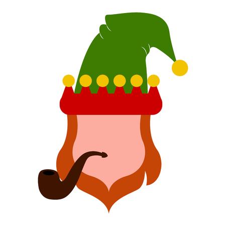 Abstract leprechaun avatar Vector illustration.