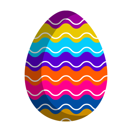 Isolated easter egg icon. Vector illustration design