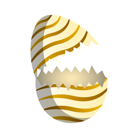 Broken easter egg image. Vector illustration design Illustration