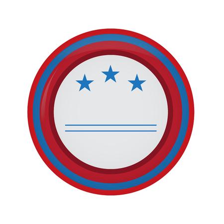 Empty american campaign button Vector illustration. Illustration
