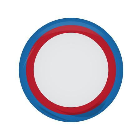 Empty american campaign button