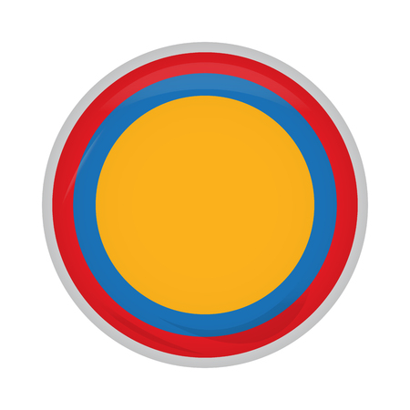 Empty colombian campaign button Vector illustration.