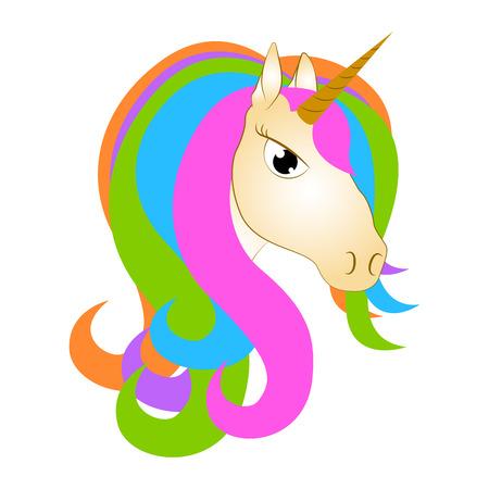Cute unicorn. Fantasy creature