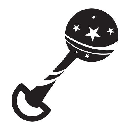 Isolated shaker toy icon on white background Stock Illustratie