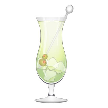 Popular martini cocktail Illustration