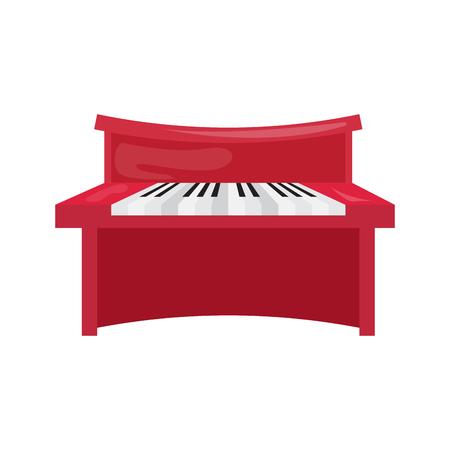 Isolated piano icon.