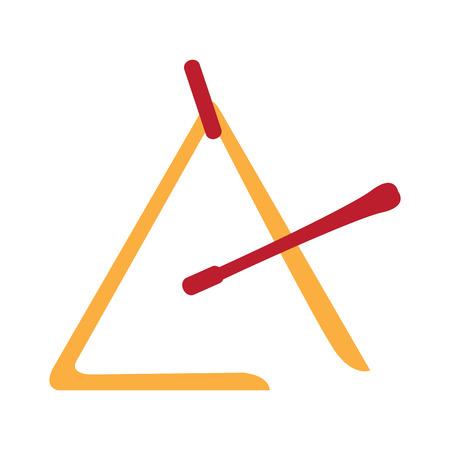 Isolated triangle icon. Musical instrument