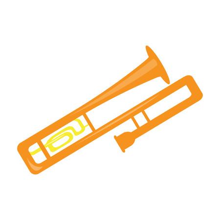Isolated trombone icon. Musical instrument 向量圖像