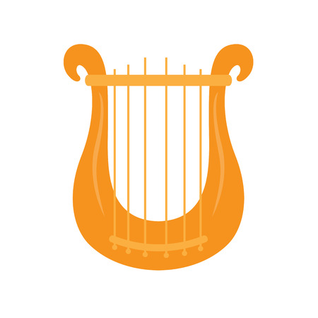 Isolated lyre icon. Musical instrument 向量圖像