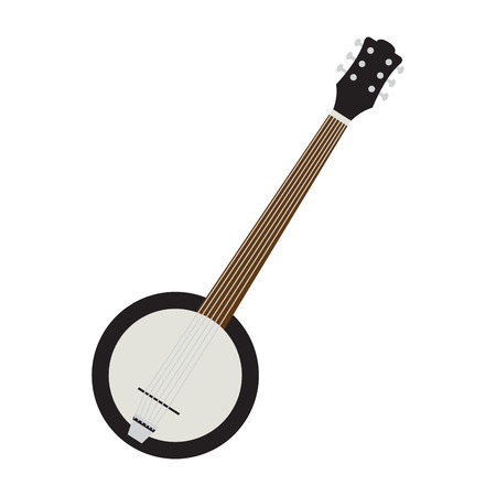 Isolated banjo icon. Musical instrument 向量圖像