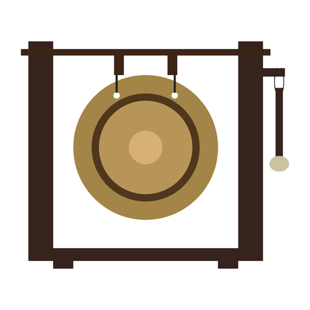 Isolated gong icon. Musical instrument 向量圖像