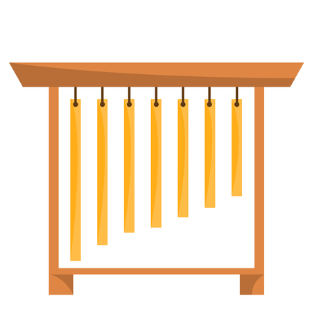 Isolated tubular bell icon. Musical instrument