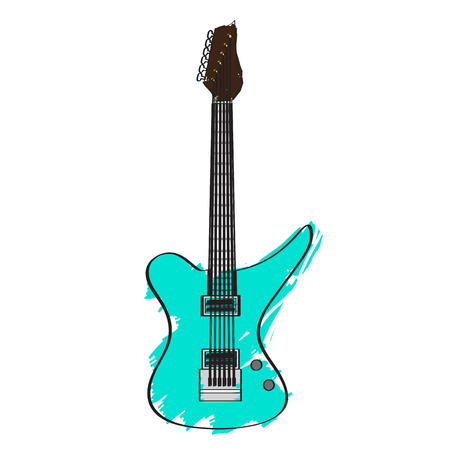 Electric guitar icon. 向量圖像