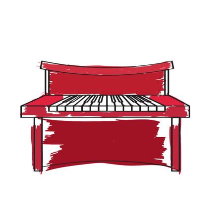 Piano icon. 向量圖像