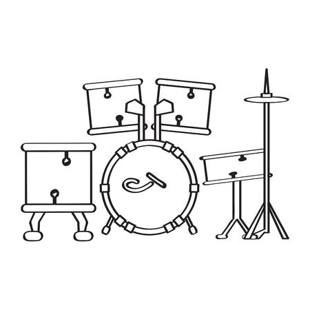 Drum set icon. Musical instrument 向量圖像