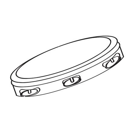 Tambourine icon.