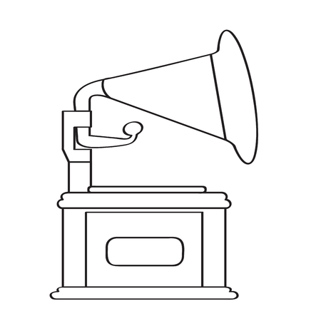 Isolated phonograph icon