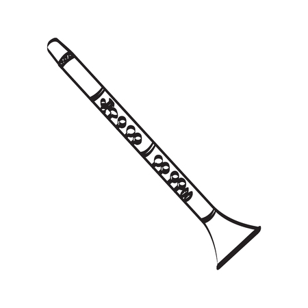 Oboe icon. 向量圖像