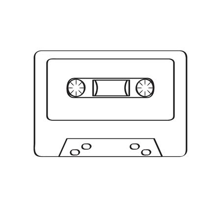 Retro cassette icon 向量圖像