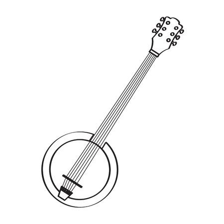 Banjo icon. Musical instrument 向量圖像