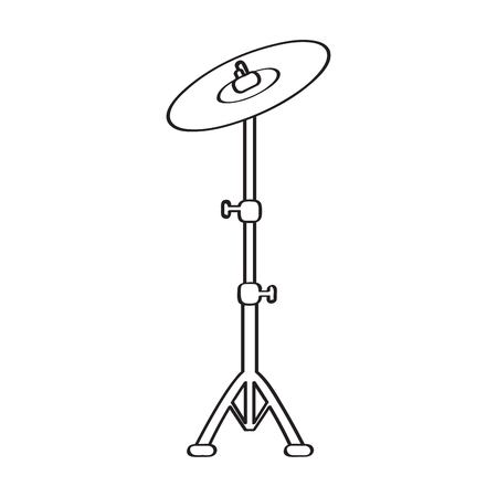 Isolated cymbal icon, musical instrument illustration. 向量圖像