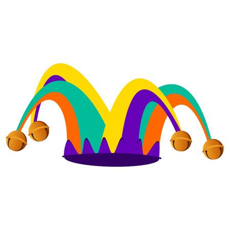 Harlequin hat, April Fools Day element illustration.