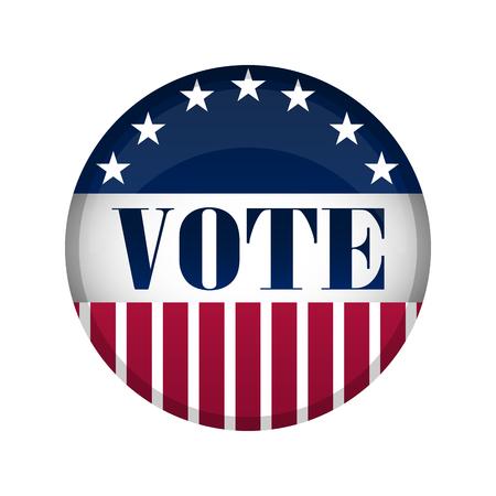 United States campaign button. Vector illustration design Ilustração