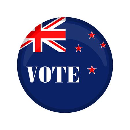 New Zealand campaign button. Vector illustration design Ilustração