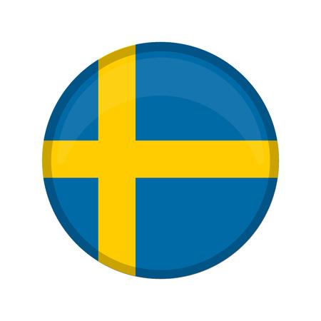 Empty Sweden campaign button. Vector illustration design Illustration