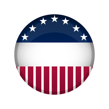 United States campaign button 矢量图像