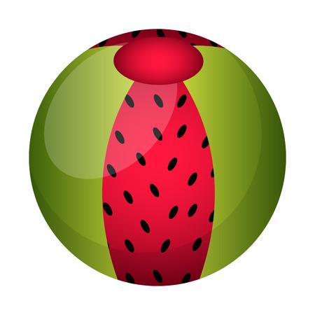 Isolated beach ball icon illustration on white background.