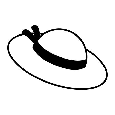 Isolated girl summer hat icon Archivio Fotografico