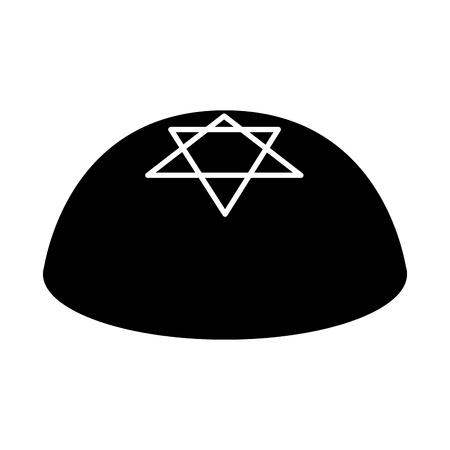 Jewish kippah icon Illustration