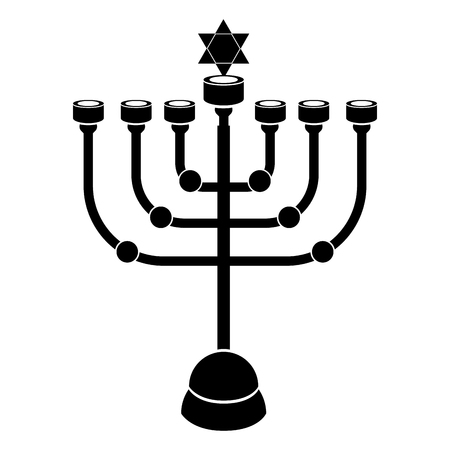 Jewish candlestick icon Vector illustration.