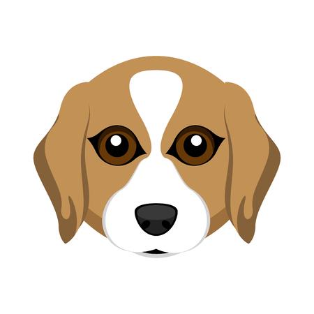 Cute beagle dog avatar