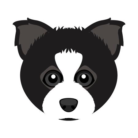 Cute border collie dog avatar Stock Illustratie