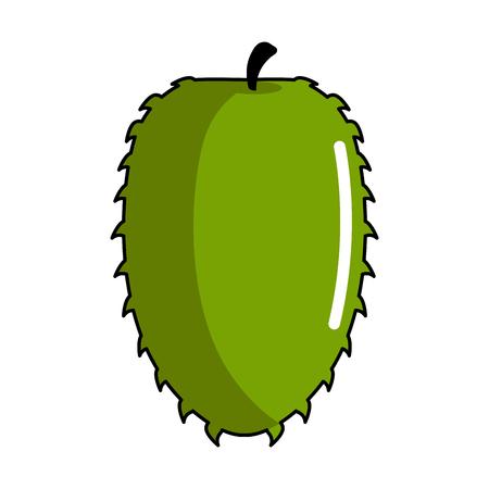 Isolated soursop icon image. Vector illustration design