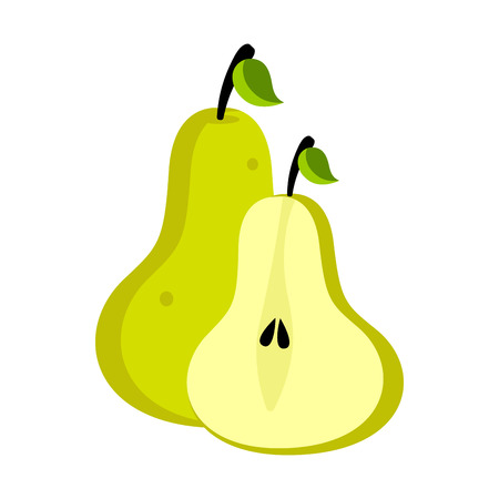Isolated pear fruit image. Vector illustration design